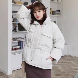 Chaquetas de invierno de mujer parkas 2019 de moda gruesas de manga cálida de linterna tops chaquetas delgadas sólidas dulces ch