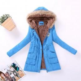 Parka informal para mujer Abrigo con capucha militar Otoño Invierno chaqueta de invierno abrigos de piel para mujer chaquetas y
