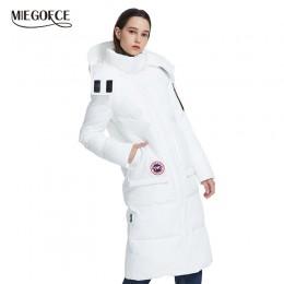 Miegfce 2019 nuevo abrigo de invierno Parka para mujer chaqueta de corte suelto por debajo de la rodilla con bolsillos estilo Ca