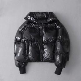 Parka de invierno 2019 con plumón brillante para mujer chaqueta bordada de gran tamaño suelta de invierno chaqueta gruesa Parka