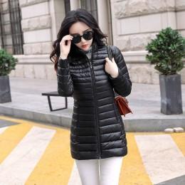 Otoño Invierno mujer chaqueta básica abrigo mujer delgada con capucha marca algodón abrigos Casual mujer medio-largo chaquetas J