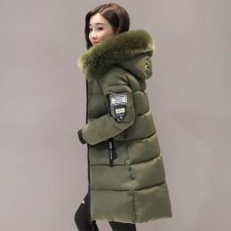 Parka para mujer abrigos de invierno largos de algodón Casual de piel con capucha chaquetas gruesas de invierno cálido Parkas ab