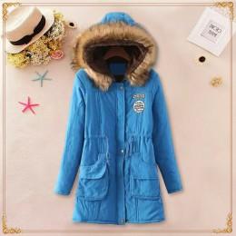 Nueva Parkas largas para mujer chaqueta de invierno abrigo de algodón grueso chaqueta de abrigo para mujer Parkas más abrigo de
