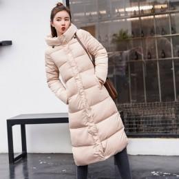 Talla grande 3XL abajo chaquetas 2019 moda mujer abrigo de invierno largo Delgado grueso chaqueta cálida abajo chaqueta acolchad