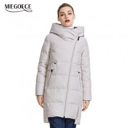 Chaqueta cálida de invierno miegfce 2019 para mujer, hecha con auténtico Bio Parka, a prueba de viento, cuello con capucha