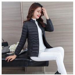 Chaqueta de algodón fina UHYTGF Tops cortos chaqueta de invierno chaqueta de mujer coreana delgada talla grande Parka femenina p