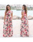 Vestido largo de fiesta de noche de manga corta con estampado Floral de verano de 2019 para mujer XXXL