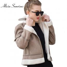 2019 abrigo de piel de oveja de imitación de piel de oveja chaqueta de gamuza gruesa de mujer Otoño Invierno Lambs de lana abrig