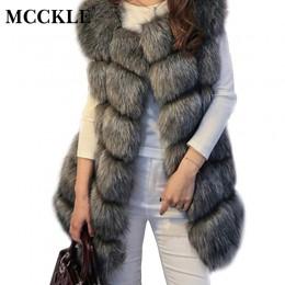 Invierno sin mangas Faux Fur mujeres chaleco abrigo talla grande 4XL zorro lujo caliente mujeres chalecos abrigos 2019 mujeres g