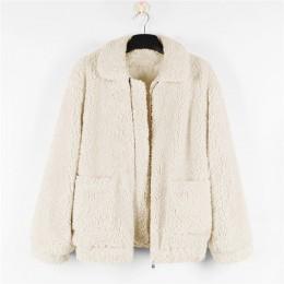 Chaqueta de lana de cordero de piel gruesa y cálida para mujer abrigo con cremallera de otoño invierno cuello vuelto ropa de abr