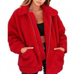 Abrigo de piel de imitación elegante para mujer 2019 Otoño Invierno chaqueta de piel de cremallera suave abrigo de felpa para mu