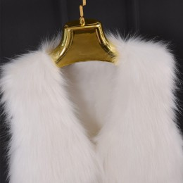 Primavera de visón abrigo de piel sintética chaleco Casual de invierno cálido Chaqueta Slim futerko suave chaqueta de piel de ме