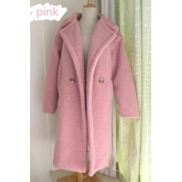 2019 nuevo abrigo de piel sintética abrigo largo de piel de cordero para mujer abrigo grueso de 10 colores
