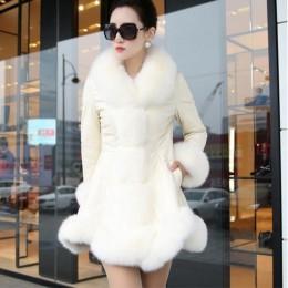 Abrigos de piel sintética de imitación de piel de oveja de alta calidad de invierno de Venta caliente con collares de piel de zo