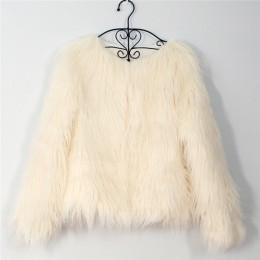 Abrigo de piel peluda para mujer abrigo de manga larga de abrigo de otoño invierno chaqueta de abrigo sin cuello peludo talla gr