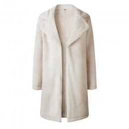 Abrigo largo elegante de piel sintética para mujer 2019 otoño invierno abrigo de piel suave abrigo de felpa para mujer