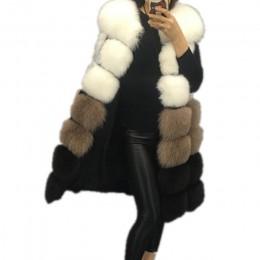Lisa Colly nueva moda de invierno Chaleco de piel de las mujeres abrigo chaleco largo cálido Chaleco de piel de imitación de las