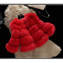 Abrigos de visón para Mujer 2019 nueva moda de invierno abrigo de piel sintética Rosa elegante abrigo grueso cálido chaqueta de