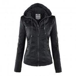 Bella filosofía Moto chaqueta mujer cremallera abrigo Turn Down Collor señoras prendas de vestir exteriores imitación cuero PU c