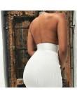 Articat Halter espalda descubierta Sexy tejido lápiz Vestido Mujer blanco fuera del hombro largo Bodycon vestido de fiesta elega