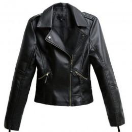 Chaqueta de cuero de PU negra lulumily para mujer, chaquetas de moto cortas y delgadas, abrigo de otoño para mujer, ropa de call