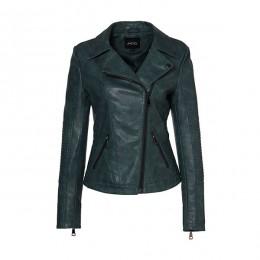 AORRYVLA 2019 nueva chaqueta de cuero de imitación de mujer de Otoño de moda de Color negro con cierre de cuello chaqueta