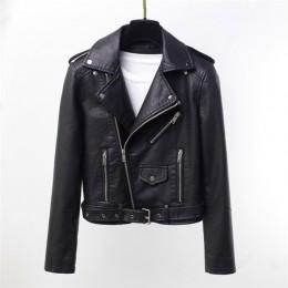 Sungtin marca PU chaqueta de cuero mujer Moto Biker abrigo corto Faux cuero Chaquetas talla grande mujer Streetwear moda exterio