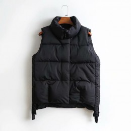 Abrigo de algodón AOEMQ Chaleco de invierno gruesa sección mantener caliente chaleco abrigo cuello vuelto abrigo de temporada fr