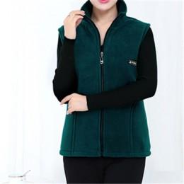 UHYTGF 2018 nuevos chalecos de lana para mujer otoño coreano de talla grande chaquetas sin mangas señoras moda cremallera Casual