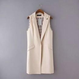 Bella filosofía blazer casual mujer chaleco mujer traje largo chaleco mujer chaqueta mujer negro bolsillos Oficina señora