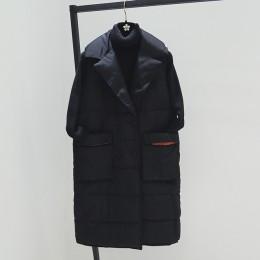 Talla grande XL chalecos de Invierno para mujer 2018 nuevo chaleco medio largo de algodón acolchado chaqueta sin mangas mujer Ch