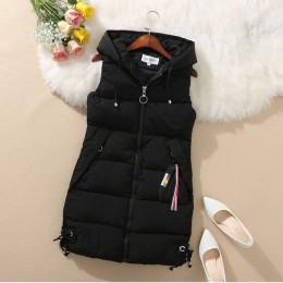 YAGENZ de talla grande Chaleco de invierno chaqueta de bolsillo con capucha abrigo cálido Casual de algodón acolchado chaleco fe