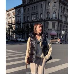 2019 chalecos de mujer de otoño e invierno nueva moda Chaleco de algodón para mujer ropa corta Chaqueta de algodón sin mangas