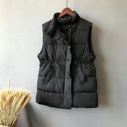 Lussily Chaleco de invierno Chalecos Para Mujer chaqueta de invierno Mujer Chalecos largos nuevo coreano de pie-up Chaleco de al