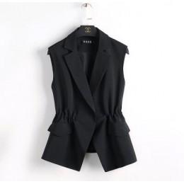 S-2XL nuevo OL moda mujer traje Chaleco corto estilo elástico cintura delgada elegante Oficina talla grande Mujer tops negro bla
