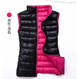 Chaleco de mujer de otoño invierno 2019 chaqueta Casual con Cuello acolchado sin mangas