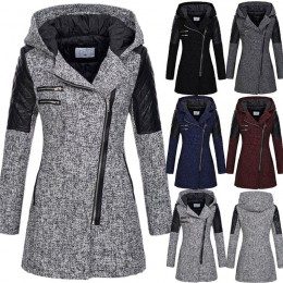 Chaqueta de mujer chaqueta cálida delgada Parka gruesa abrigo de invierno Outwear con capucha cremallera abrigo de mujer chaquet