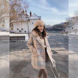 Mishow 2019 abrigo de mujer ropa de invierno moda cálida lana mezcla mujer elegante doble botonadura abrigo de lana MX18D9679