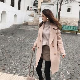 Mishow 2019 otoño e invierno abrigo de lana mujer medio largo nuevo temperamento coreano ropa de calle Popular abrigo de lana MX