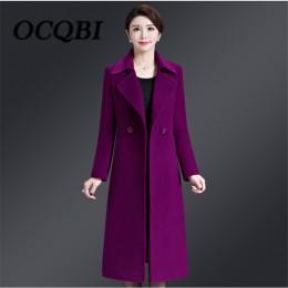 2018 abrigo delgado de lana de invierno estilo coreano de alta calidad elegante mujer nueva llegada ropa 4xl abrigo