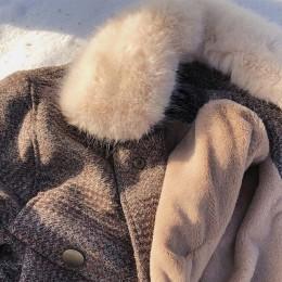 Mishow 2019 mujer nueva ropa de invierno chaqueta de lana gruesa versión coreana femenina del abrigo corto de lana a cuadros hol