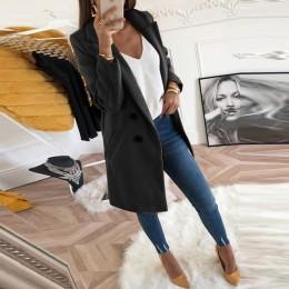Abrigo de lana para mujer abrigo de lana de invierno manga larga cuello vuelto mezcla chaqueta elegante señora abrigos talla gra