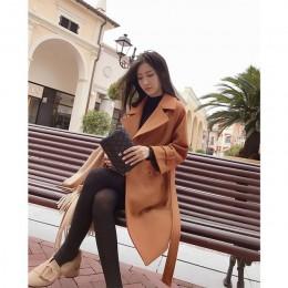Mishow 2019 otoño e invierno abrigo de lana para mujer medio largo nuevo temperamento coreano popular abrigo de lana para mujer
