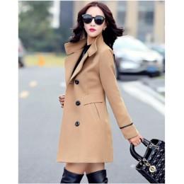 YAGENZ mezcla abrigo de lana abrigo femenino Otoño Invierno abrigos y chaquetas Mujer más tamaño abrigo de lana para mujer Abrig