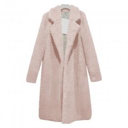 XXXL Otoño Invierno mujer abrigo largo Simple collar de lana abrigo más grueso cálido Tweed ropa de abrigo Casacos femeninos 201