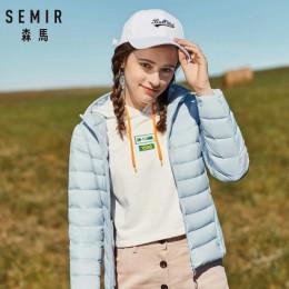SEMIR 2019 nuevas chaquetas básicas de Invierno para mujer abrigos de invierno con capucha de terciopelo chaqueta de invierno pa