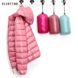 2019 nuevas chaquetas de plumón de pato ultraligero con capucha para mujer abrigo de invierno de manga larga ajustado 6XL talla