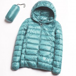 2019 nueva chaqueta de plumón de pato blanco Ultra ligero informal para mujer otoño invierno abrigo cálido para mujer de talla g