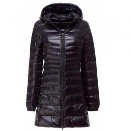 Abajo Parka 2019 nueva marca de invierno chaqueta de plumón de pato blanco largo chaqueta de Abrigo con capucha ultradelgada 6XL