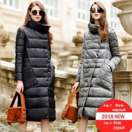 Chaqueta de plumón de pato para mujer invierno 2019 abrigos de abrigo de mujer larga Casual luz ultradelgada cálida chaqueta de